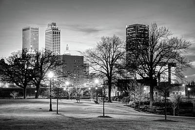 City Lights To The Tulsa Skyline Poster by Gregory Ballos