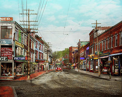 Poster featuring the photograph City - Ma Glouster - A Little Bit Of Everything 1910 by Mike Savad