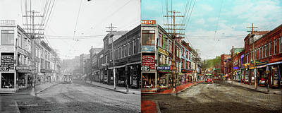 Poster featuring the photograph City - Ma Glouster - A Little Bit Of Everything 1910 - Side By Side by Mike Savad