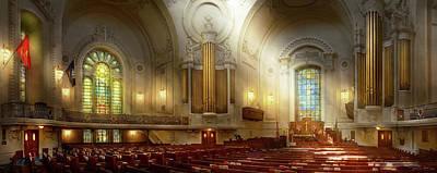 Poster featuring the photograph City - Naval Academy - The Chapel by Mike Savad