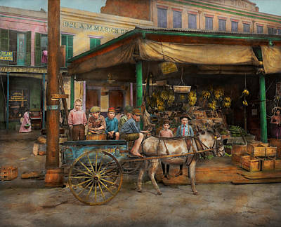 City - New Orleans La - Frankie And The Boys 1910 Poster by Mike Savad