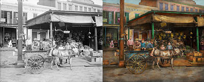 City - New Orleans La - Frankie And The Boys 1910 - Side By Side Poster by Mike Savad