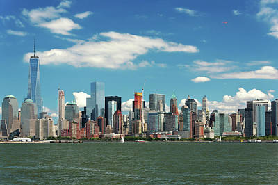 Poster featuring the photograph City - New York Ny - The New York Skyline by Mike Savad