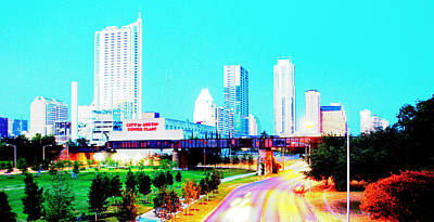 City Of Austin From The Walk Bridge 2 Poster by James Granberry