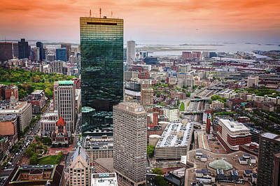 City Of Boston Reflected  Poster