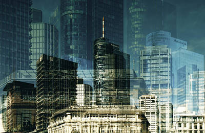 city of Frankfurt Poster by Claudia Moeckel