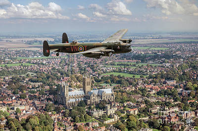 Poster featuring the photograph City Of Lincoln Vn-t Over The City Of Lincoln by Gary Eason
