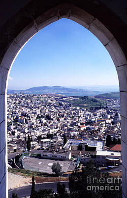 City Of Nazareth From The Saint Gabriel Bell Tower Poster