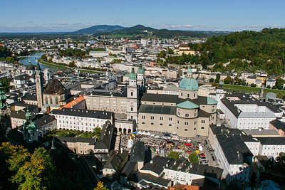 Poster featuring the photograph City Of Salzburg by Silvia Bruno