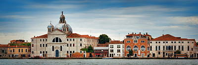 Poster featuring the photograph City Skyline Of Venice Panorama by Songquan Deng