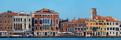 Poster featuring the photograph City Skyline Of Venice by Songquan Deng