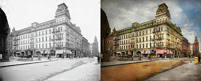 Poster featuring the photograph City - Toledo Oh - Got A Boody Call 1910 - Side By Side by Mike Savad
