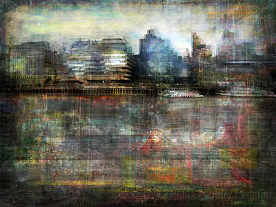 Poster featuring the photograph Cityscape #33. Silent Windows by Alfredo Gonzalez