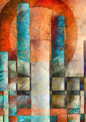 Cityscape Abstract Vertical Poster by Edward Fielding