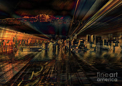 Cityscape Poster by Elaine Hunter