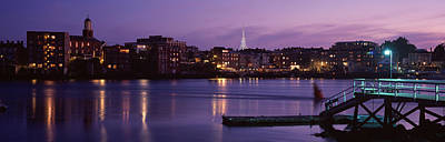 Cityscape Portsmouth Nh Usa Poster by Panoramic Images