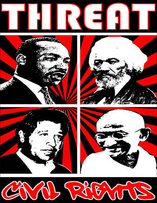 Civil Rights Poster by Jesus Javier Huerta