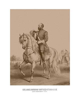Civil War General James Garfield Poster by War Is Hell Store