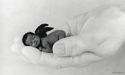 C.j. As An Angel Poster by Anne Geddes