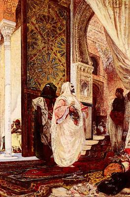 Clairin Georges Jules Victor Entering The Harem Poster