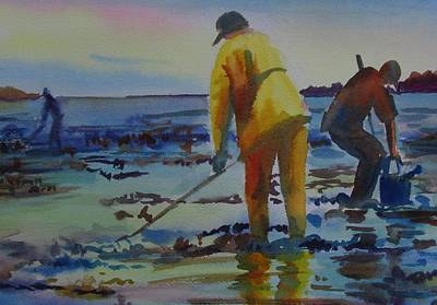 Clam Diggers Poster by Linda Emerson