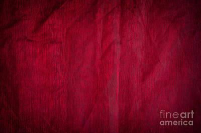 Claret Organza Texture Abstract Poster by Arletta Cwalina