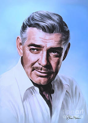Poster featuring the painting  Clark Gable 2 by Andrzej Szczerski