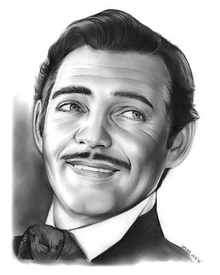 Clark Gable Poster by Greg Joens