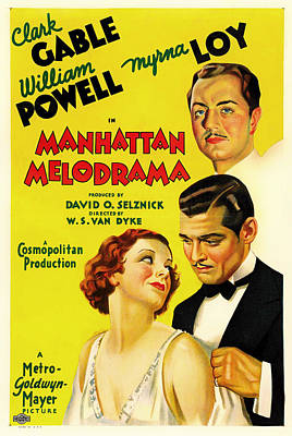 Clark Gable In Manhattan Melodrama 1934 Poster by Mountain Dreams