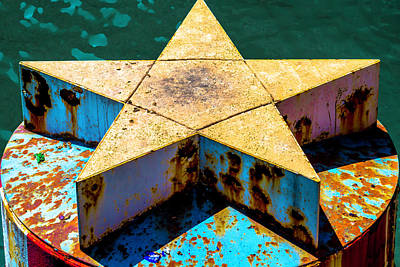 Clark Street Bridge Star Pylon V3 Dsc6070 Poster by Raymond Kunst