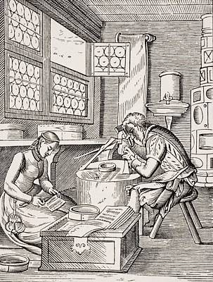 Clasp Maker. 19th Century Reproduction Poster