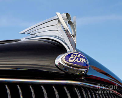 Classic 1935 Ford Hood Ornament Poster