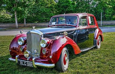 Classic Bentley In Red Poster