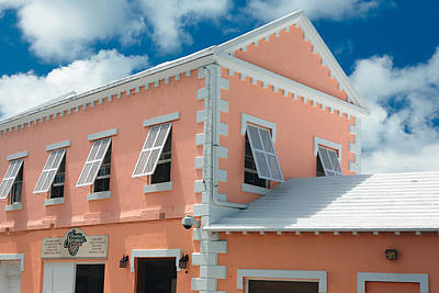 Classic Bermuda Style Building Somers Bermuda Poster by George Oze