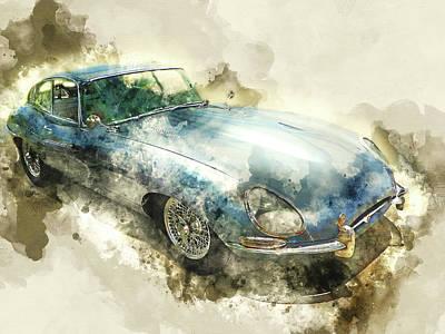 Classic Blue Jaguar Poster