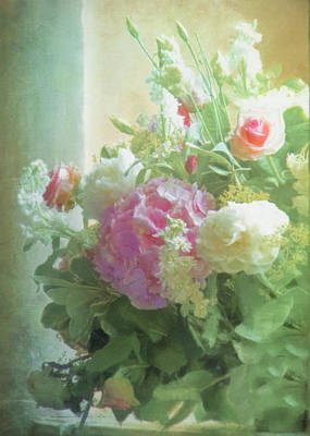 Classic Bouquet In A Window Poster by Hal Halli