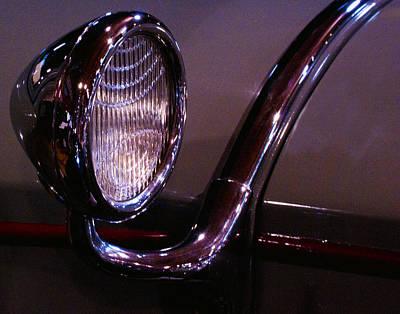 Classic Car Head Light Poster by Karen Hanley Colbert