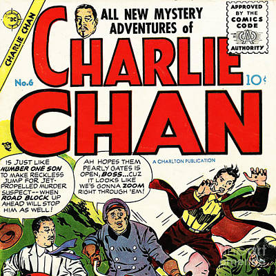 Classic Comic Book Cover Charlie Chan 6 Square Poster by Wingsdomain Art and Photography
