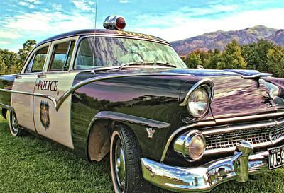 Classic Cop Car Poster