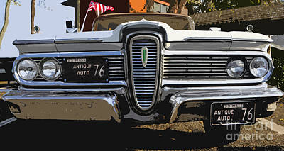 Classic Edsel Poster by David Lee Thompson