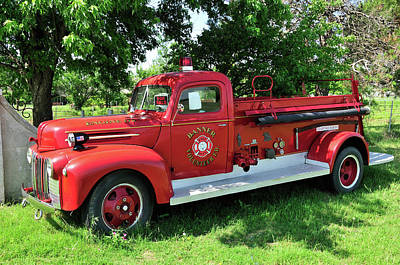 Classic Fire Truck Poster