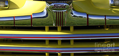 Classic Ford Chrome Grill Poster
