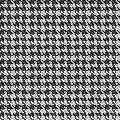 Classic Grey Houndstooth Check Poster by Jane McIlroy