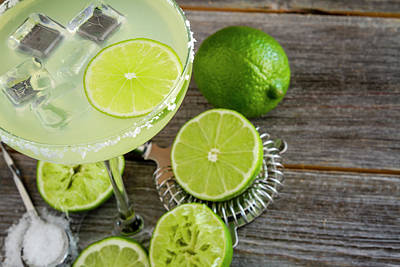 Poster featuring the photograph Classic Lime Margarita by Teri Virbickis