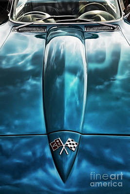 Classic Muscle - Corvette Roadster Poster