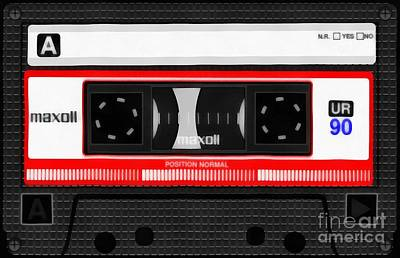 Classic Music Cassette Tape Painting Poster by Edward Fielding