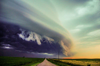 Poster featuring the photograph Classic Nebraska Shelf Cloud 024 by NebraskaSC