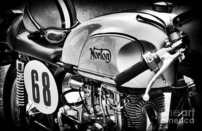 Classic Norton Cafe Racer  Poster by Tim Gainey