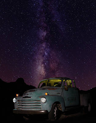 Classic Truck Under The Milky Way Poster