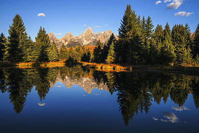 Classic View Of Grand Tetons Mountain Range Poster